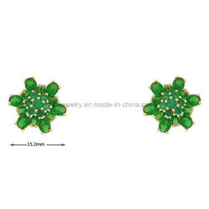 Fashion Style Colorful Flower Stud CZ Earrings Jewelry Daily Wear (KE3140) pictures & photos