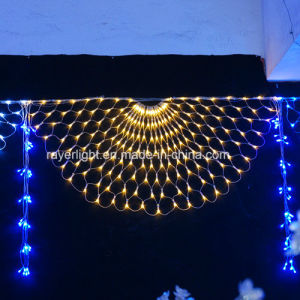 Half- Round Shape LED Colorful Net Mesh Lights pictures & photos