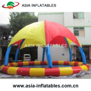 Outdoor Inflatable Round Shape Water Pool with Tent pictures & photos