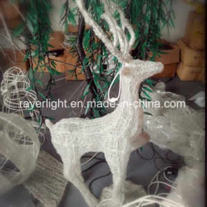 LED Christmas Light Outdoor White Lighted White Reindeer pictures & photos
