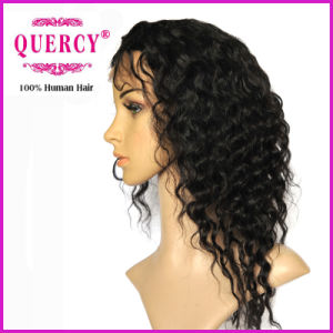 Hot Selling Indian Human Hair Deep Wave Lace Wig pictures & photos