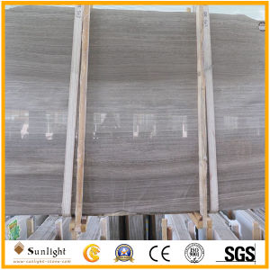 Cheap Chinese Grey Wooden Marble Slabs pictures & photos