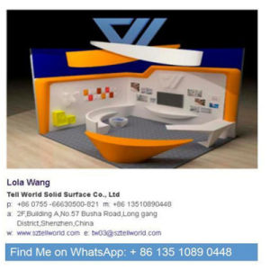 Office White LED Light Marble Reception Counter pictures & photos