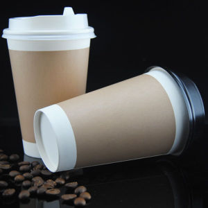 China Wholesale Double Wall Coffee Paper Cups with Lids pictures & photos