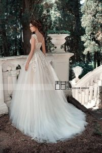 Blush Wedding Ball Gowns A-Line Lace Tulle Bridal Dress 2018 Lb1817 pictures & photos