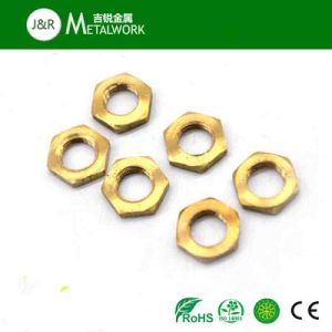 M6 M8 Brass Copper Hex Thin Nut (DIN439) pictures & photos