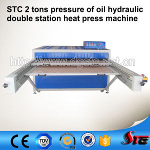 Oil Hydraulic Double Station Automatic Heat Press Machine pictures & photos