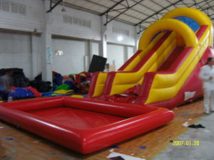 Inflatable Slide, Inflatable Waterslide, Water Slide with Swimming Pool