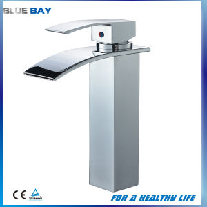 Brass Waterfall Lead Free Basin Mixer Faucet pictures & photos