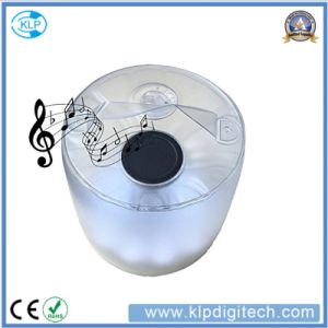 Factory Price Waterproof Inflatable Solar LED Lamp with Bluetooth Speaker pictures & photos