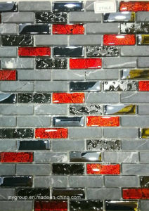 Short Strip Mix Stone Glass Mosaic Jy46k pictures & photos