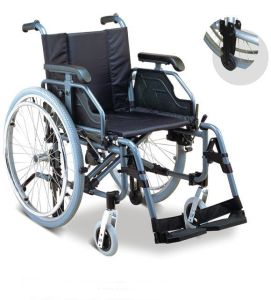 Multi-Functional Luxurious Aluminum Manual Folding Wheelchair pictures & photos