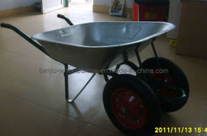 Russian Double Wheel Wheel Barrow (WB6203A) pictures & photos