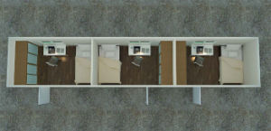 40ft Living Container with Three Bedrooms (RAY-PCH-430)