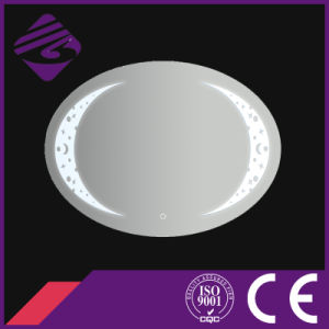 Jnh244 New Arrival Oval Bathroom Glass Mirror with Clock pictures & photos