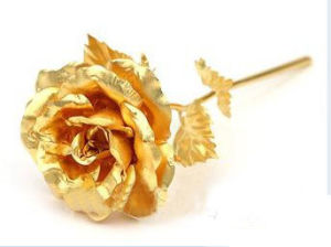 Handicraft 99.9% 24k Festival Gift Gold Rose