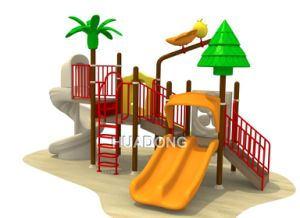 Factory Supply Children Colorful Outdoor Plastic Playground Equipment (HD-125D) pictures & photos