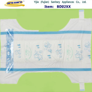 A Grade PE Film with PP Tape Disposable Baby Diapers pictures & photos