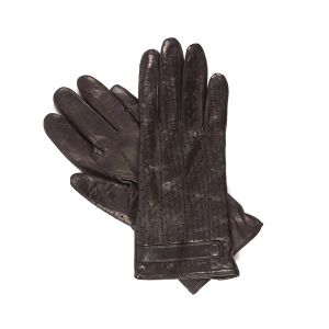 Fashion Leather Gloves with Small Holes Back Ventilated Glove (SW312)