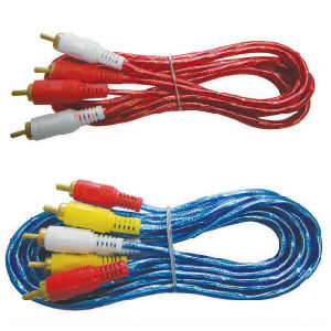 RCA Cable Audio Video Cable 2RCA 3RCA Cable (2R/3R) pictures & photos