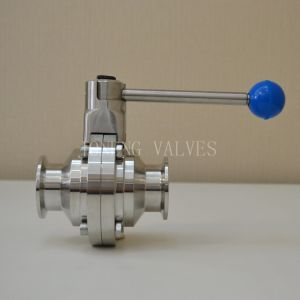 Stainless Steel Sanitary Clamped Butterfly Type Ball Valve pictures & photos