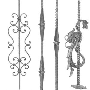 Hand Forged Iron Stair Railing Parts
