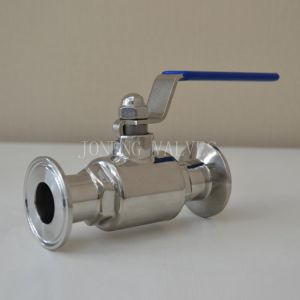 Stainless Steel Food Grade Clamped Straight Ball Valve pictures & photos