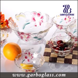 Glass Fruit Bowl with Lily Design (GB1629LB/PDS) pictures & photos