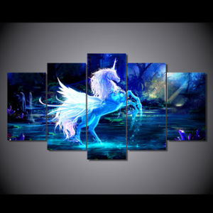 HD Printed Pictures Unicorn Horse Group Painting Room Decor Print Poster Picture Canvas Mc-022 pictures & photos