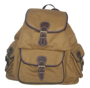 Canvas and Imitation Leather Backpack (TB048CAPU)