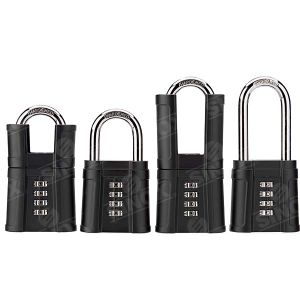 Hardened Shackle Double Locking Mechanism Resettable Combination Hardware Key Lock Heavy Duty pictures & photos