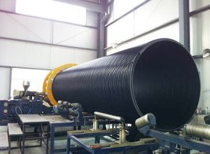 Plastic PE Huge Diameter Hollowness Wall Spiral Pipe Extrusion Machine pictures & photos