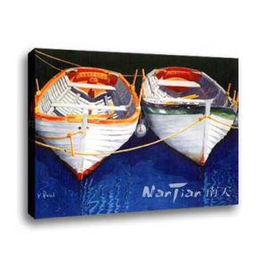 Landscape Oil Painting - Ships (DG098)