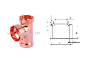 Equal Copper Tee for Plumbing / HVAC pictures & photos