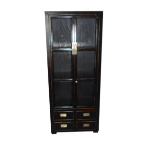 Chinese Furniture Antique Glass Door Wooden Cabinet Lwa530 pictures & photos