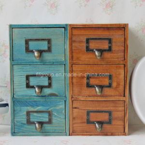 Antique Color Customized Wooden Cabinet with Multi-Drawers in Different Color pictures & photos