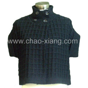 Women Spun Rayon Sweater with Short Sleeves (CX-W-003S)
