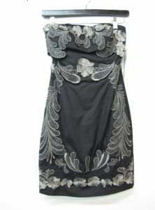 Women Sexy Heavy Emroidery Fashion Evening Dress (EF D2002)