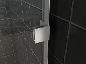 Nano Easy Clean Bathroom Glass Simple Shower Screen with Hinge pictures & photos