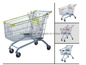 150L Shopping Cart Metal Supermarket Trolley pictures & photos