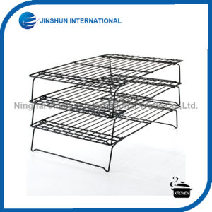 3 Tier 40*25cm Foldable Kitchen Cake Bread Cooling Rack pictures & photos