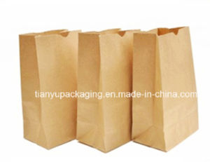 Brown Kraft Paper Bag Baking Bread Packaging Food Paper Bag pictures & photos