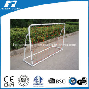 White Color Powder Coated Soccer Goal pictures & photos