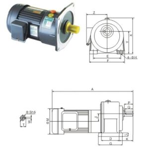 High Ratio Single Phase Motor pictures & photos