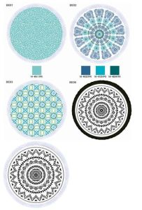 Mandala Circular Beach Towel Round Turkish Towel