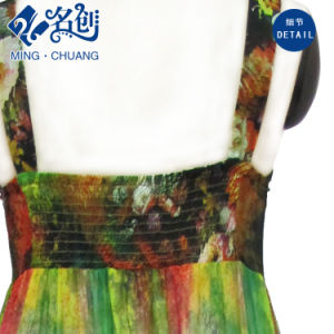 Multicoloured Sleeveless Exposing-Back Silky Slimmering-Waist Sexy Fashion Ladies Dress pictures & photos