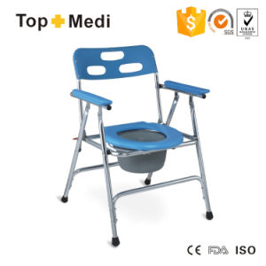 Bathroom Safety Health Prodcut Lightweight Commode Chair with Plastic Bedpan pictures & photos