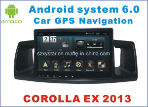 New Ui Android 6.0 Car Video for Corolla Ex 2013 with Car GPS Navigation