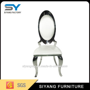 Hotel Furniture Wedding Chair Sliver with Leather pictures & photos