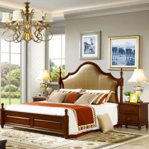 Home Furniture with Wooden Bed and Wardrobe Cabinet pictures & photos
